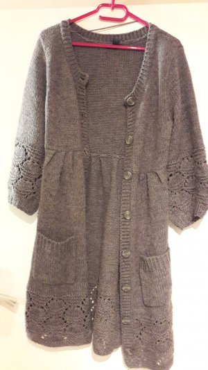 H&M Knitted Coat multicolored polyacrylic