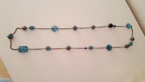 Lange Hängekette mit Türkisen Perlen
