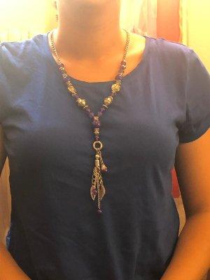 Bijou Brigitte Necklace silver-colored-dark violet