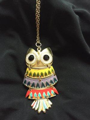 Lange Halskette Modeschmuck mit Eule