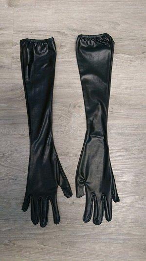 Avond handschoenen zwart Gemengd weefsel