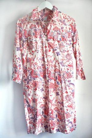 Lange Hemdbluse mit zartem Blumenmuster. Von 0039 Italy