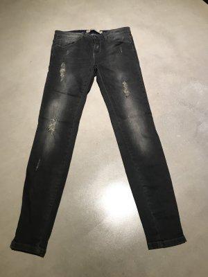 Zara Woman Drainpipe Trousers grey