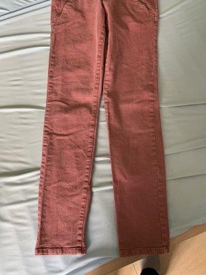 edc Pantalón de tubo color rosa dorado