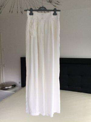 Emporio Armani Pantalon Marlene blanc cassé