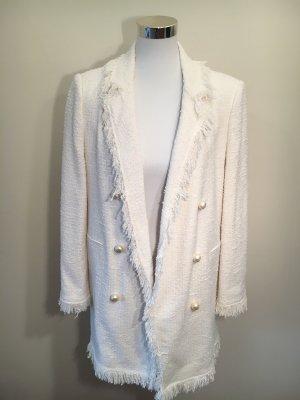 Zara Blazer largo blanco puro-crema