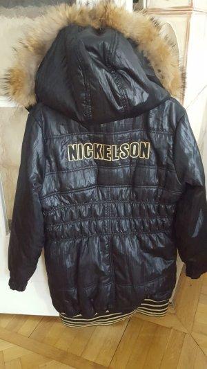 Lange Jacke mit Echtfell