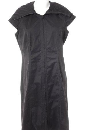 Veste longue noir style décontracté
