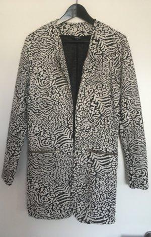 Lange Jacke schwarz-weiß gemustert