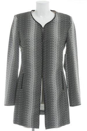 Lange Jacke schwarz-weiß Punktemuster Casual-Look