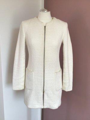 Zara Giacca lunga bianco sporco