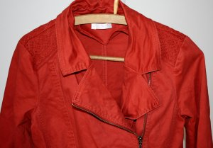 Lange Jacke - Übergangsjacke - rot