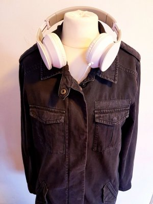 Lange Jeansjacke dunkelblau Gr. XS