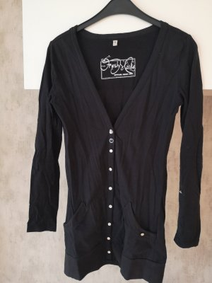 Fresh made Lang gebreid vest zwart