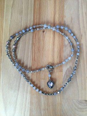 lange Kette mit Achat-Perlen