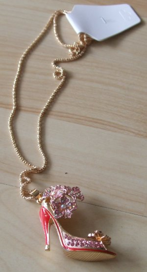 Necklace gold-colored-pink