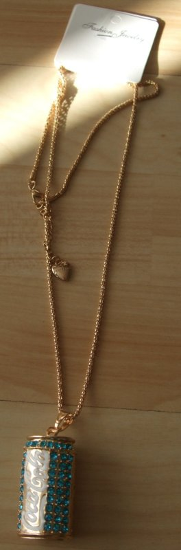 Necklace gold-colored-blue