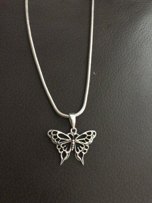 Lange Kette mit Schmetterling 925-er Silber