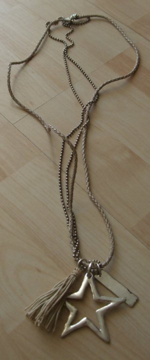 Necklace silver-colored-oatmeal