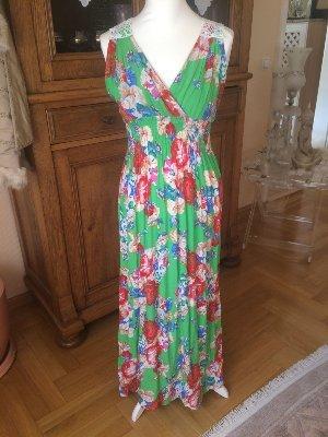 Lange Kleid - grün/bunt - Größe S !