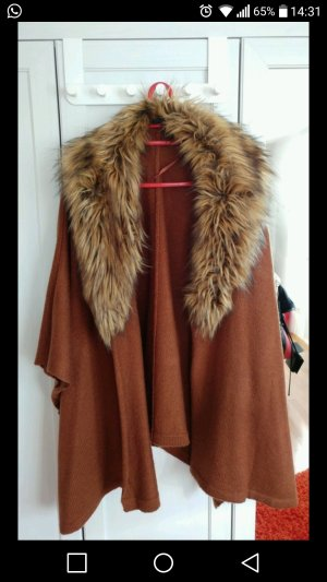 Atmosphere Fake Fur Vest brown fake fur