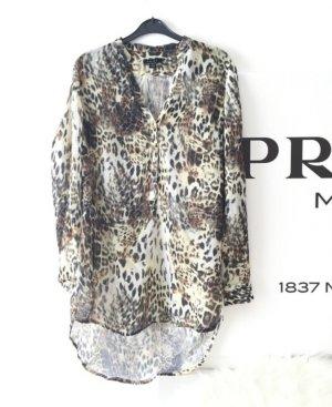 Lange Leoparden Bluse
