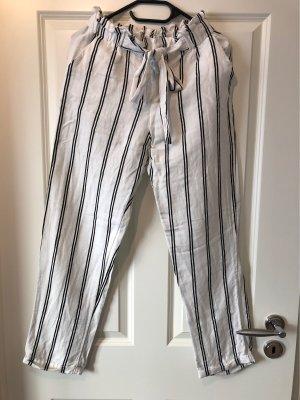 Mango Pantalone jersey bianco-nero