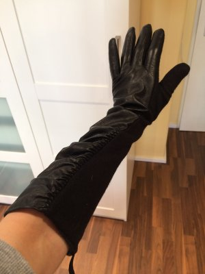 Accessorize Leather Gloves black leather