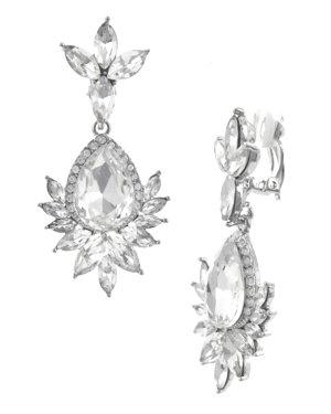 Earclip silver-colored glas