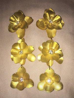 H&M Pendientes de clip amarillo