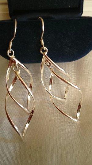 Lange Ohrringe Ohrhacken Silber 925 Gesamtlänge 8,5 cm