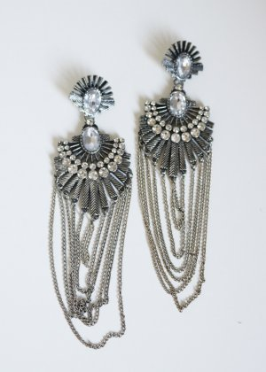 Asos Statement Earrings silver-colored