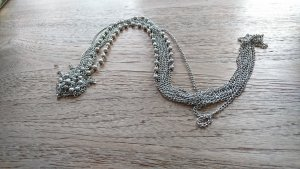 Pearl Necklace silver-colored