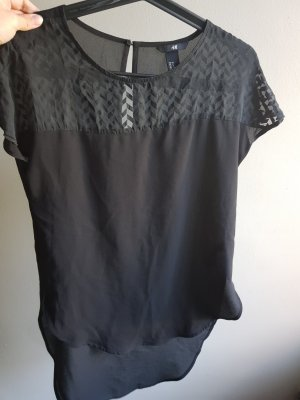H&M Oversized blouse zwart