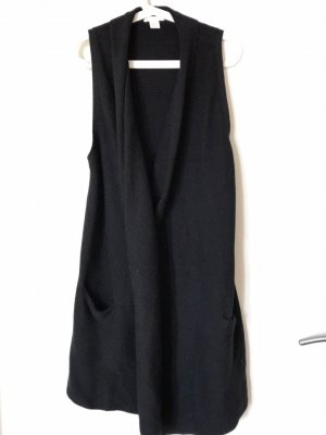 H&M Long Knitted Vest black