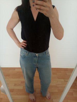 Lange schwarze Bluse Gr 40