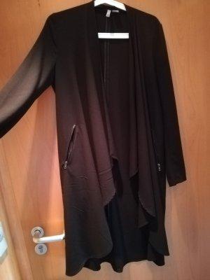 Lange schwarze Dünne Jacke