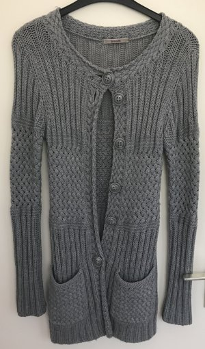 Bloom Coarse Knitted Jacket grey wool