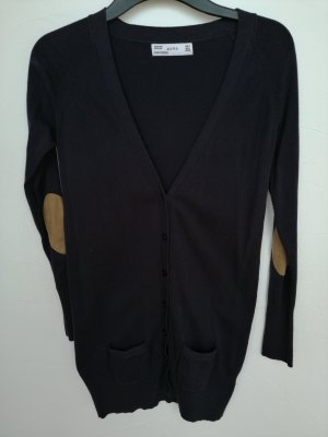 Zara Long Knitted Vest dark blue