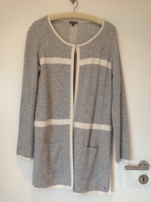 Lange Strickjacke in grau