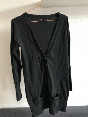 Lange Strickjacke in Schwarz, Zara, Größe M