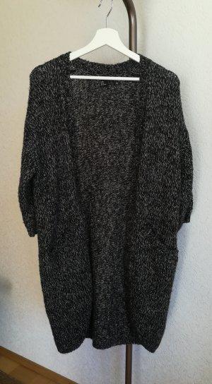 H&M Coarse Knitted Jacket white-black