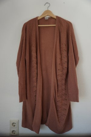 Vero Moda Knitted Coat rose-gold-coloured mixture fibre