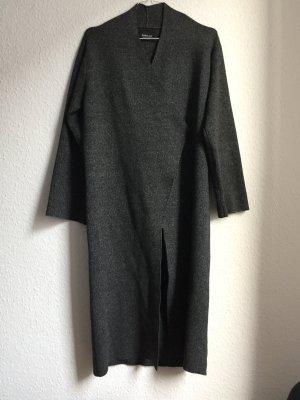 Lange Strickjacke von Zara in Anthrazit Melange