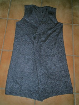 Gina Benotti Long Knitted Vest grey mixture fibre