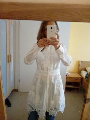 lange weiße  Bluse für viele Anlässe,
