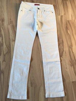 Lange weiße Jeans in Gr. 38