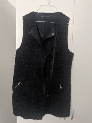 Be only Fake Fur Vest dark blue