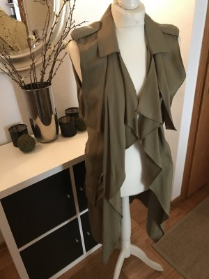 Zara Frock Coat khaki-green grey