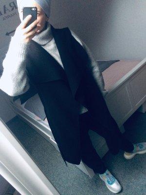 Sisters point Gilet long tricoté noir